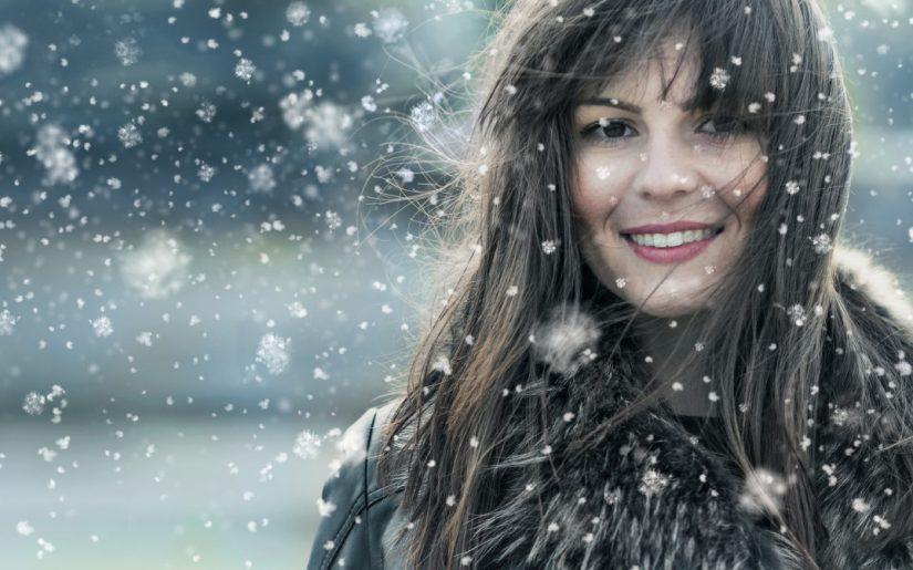 el cabello delicado en invierno